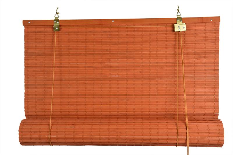 Zatemňovácí bambusová roleta oranžová Velikost: 50x150